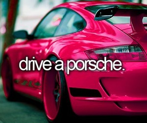 pink, porsche, and beauty image
