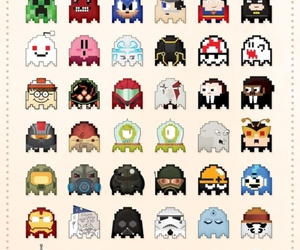 pacman, ghost, and Pac Man image