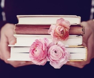 book flowers, a flower book, and peonies pink image