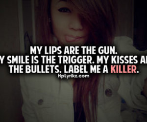 killer, lips, and quote image