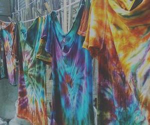 hippie, t-shirt, and tie dye image