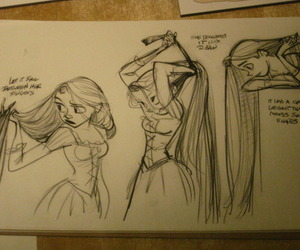 hair, disney, and rapunzel image