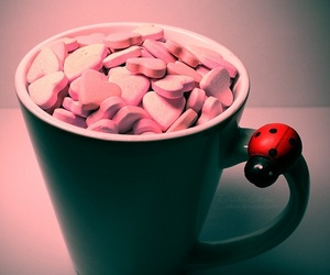 cup, pink, and heart image