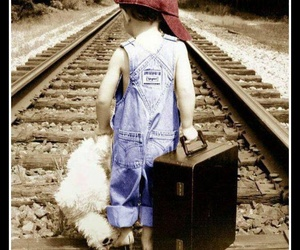 children, luggage, and hats image