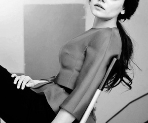 actress, black and white, and glamour image