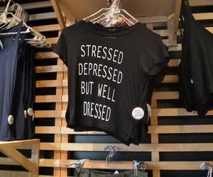 fashion, shirt, and stressed image