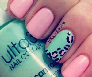 pink and nails print image