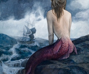 mermaid and painting image