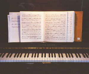 piano, vintage, and music image