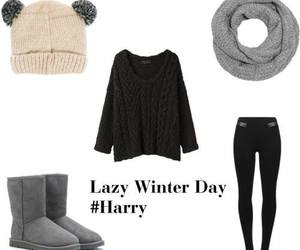 clothes, winter, and Harry Styles image