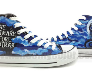 nightmare before christmas, custom converse, and canvas sneakers image