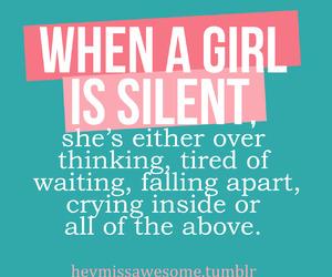 sad, girl, and inspiration image