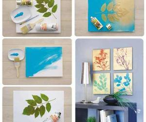 diy, leaves, and ideas image