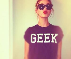 geek, girl, and sunglasses image