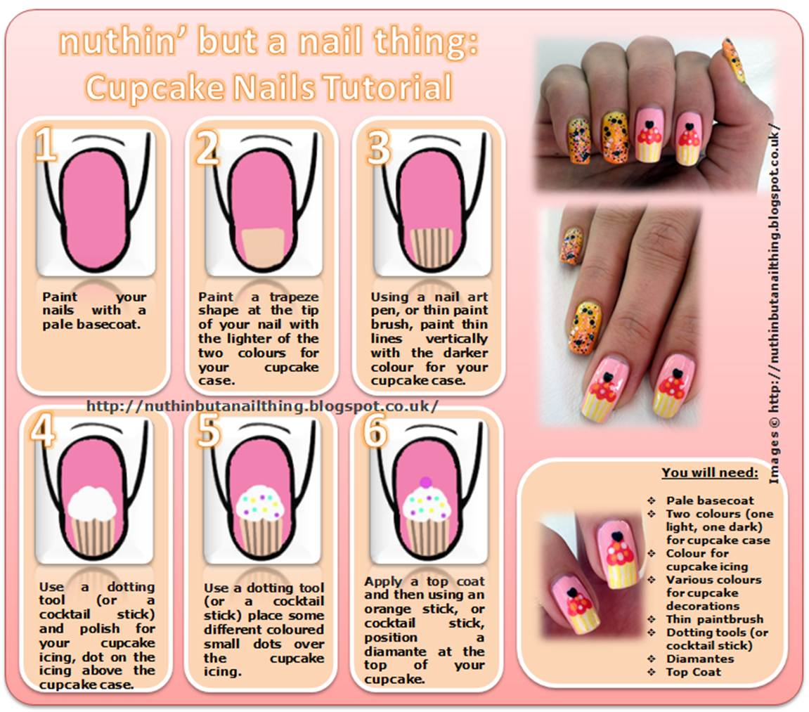Cupcake Nail Art Tutorial discovered by ѕнιzυĸa ♫