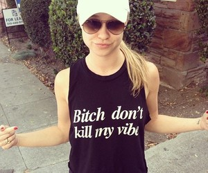 bitch, hat, and shirt image