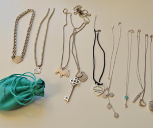 collection, necklaces, and dog image