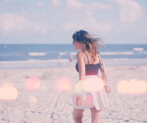 girl, photography, and beach image