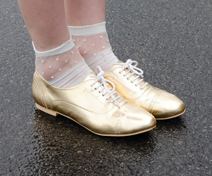 gold, oxford, and shoes image