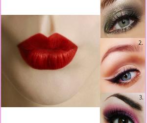 eyes, lips, and make-up image