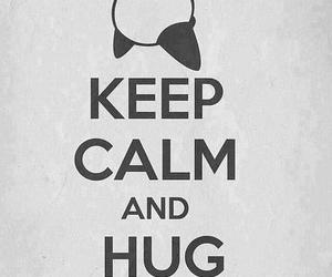 panda, hug, and keep calm image