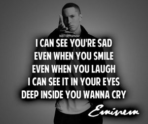 eminem, sad, and quotes image