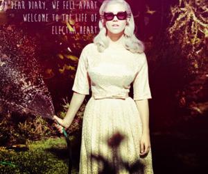 blonde, dress, and garden image