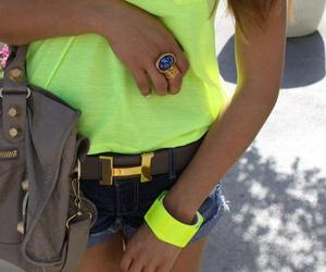 fashion, neon, and hermes image
