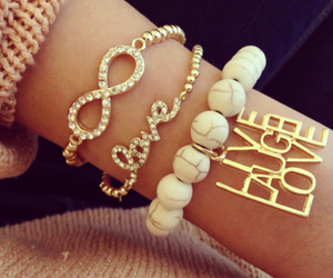 love, accessories, and bracelet image