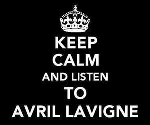 Avril Lavigne, keep calm, and Avril image