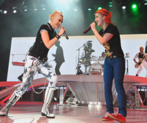 hayley williams, gwen stefani, and no doubt image