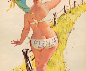 Pin Up, hilda, and vintage image