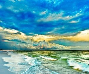 beach, paradise, and turquoise image