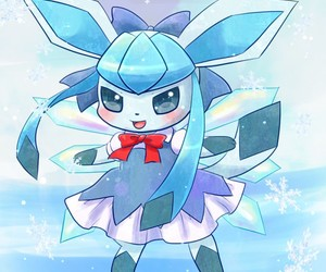 anime, glaceon, and blue image