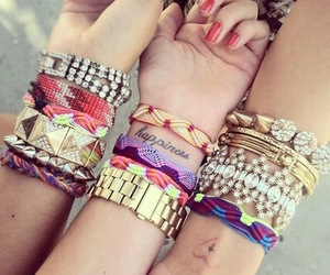 bracelet, friends, and happiness image