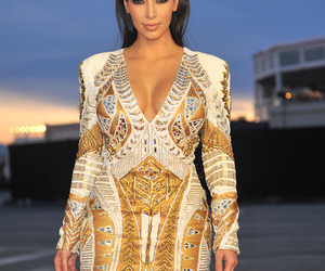 dress, kim kardashian, and fashion image