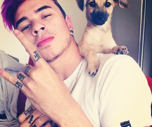 boy, dog, and tattoo image