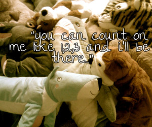 song lyrics, stuffed animals, and count on me image