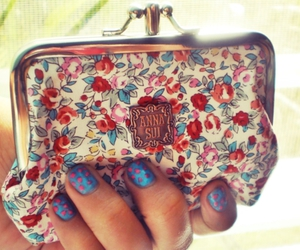floral, purse, and fashion image