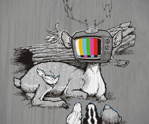 art, animals, and black and white image