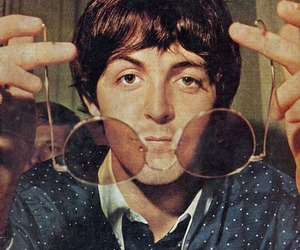 Paul McCartney, the beatles, and glasses image