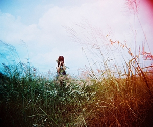 bright, field, and girl image