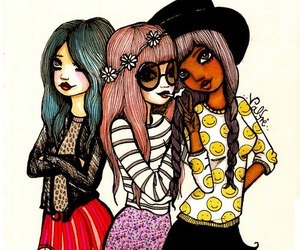 girl, valfre, and friends image