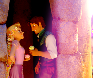 comics, romance, and tangled image