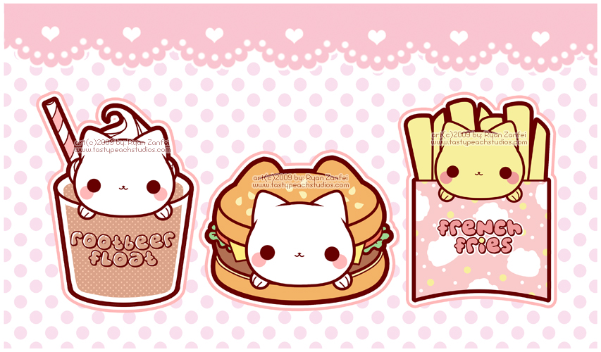 Kawaii Food Cats Uploaded By Claudia On We Heart It