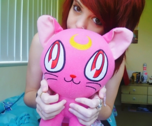 girl, red hair, and sailor moon image