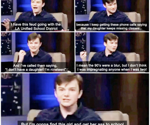 funny, chris colfer, and interview image