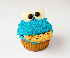 cupcake, cookie, and blue image
