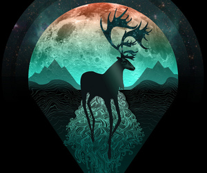 antlers, cute, and art image
