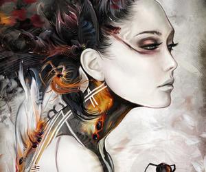 art, spider, and illustration image